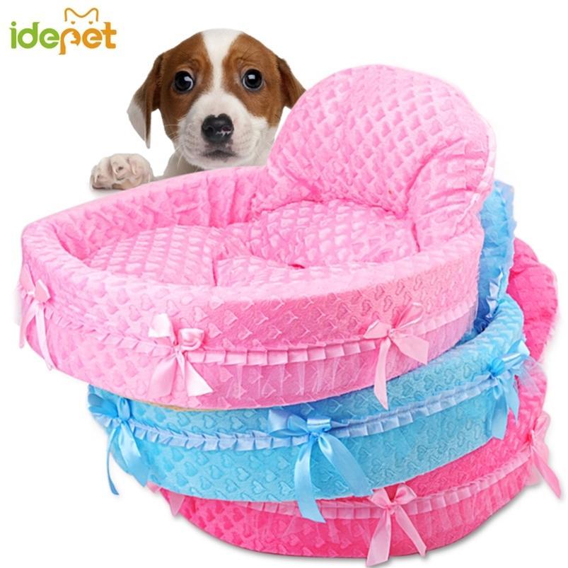 Lindo encaje princesa canasta cama perrito sueño nido mascota kennel camas de lujo gato perro sofá 7A4Q 201223