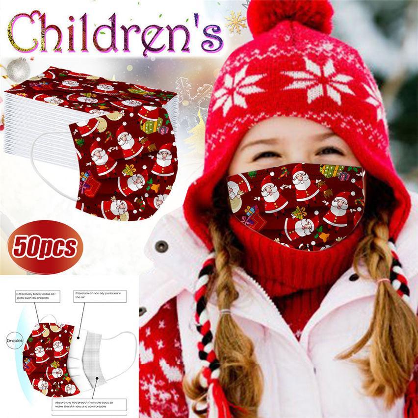 Natal máscara facial O presente das crianças de Santa Snowman rosto máscaras de designer para impressão descartável Natal impressão crianças homens mulheres moda máscara facial