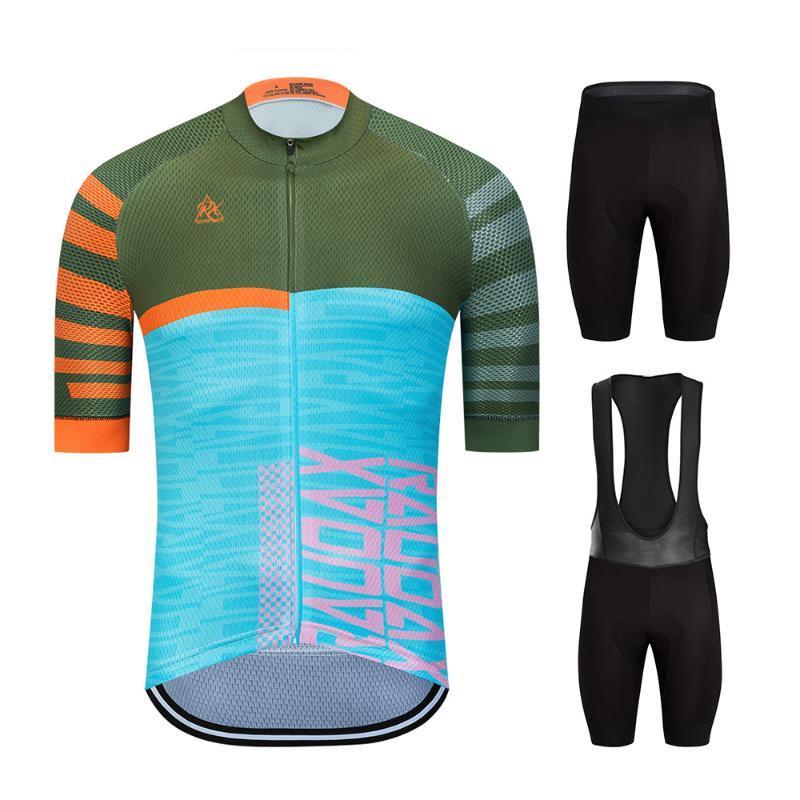 Bisiklet Jersey Seti 2020 Raudax Erkekler Bisiklet Giyim MTB Bisiklet Giyim Bisiklet Giyim Giyim Maillot Ropa Ciclismo Triatlon