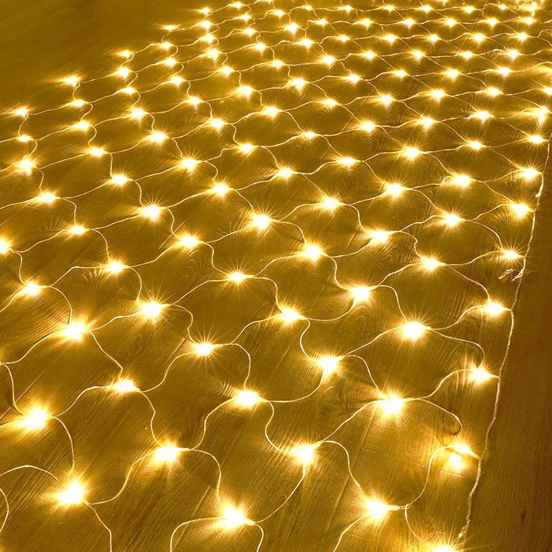 2021 110 V / 220 V 10 × 8 الصمام صافي جارلاند شنقا شبكة الديكور حبل الجنية أضواء حزب الزفاف إضاءة عطلة في الهواء الطلق 5mwa