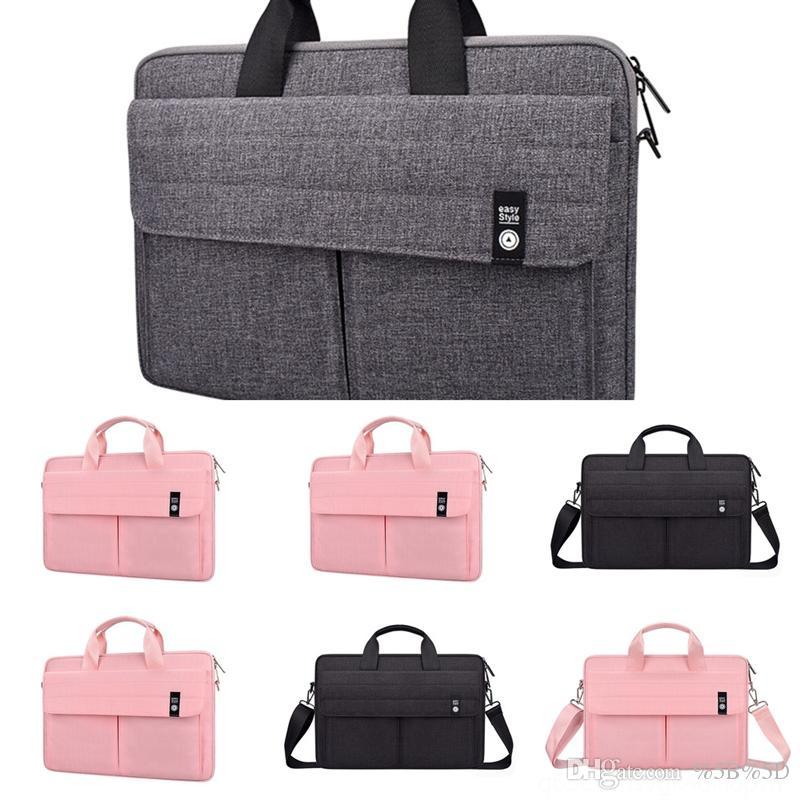 QB1 Messenger Leder Aktentüten für Männer Laptoptasche Laptoptasche für Männer MVA Zoll Laptops Schulter Aktentaschen Totes Taschen