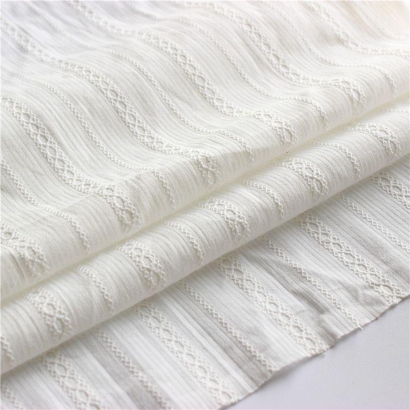 Хлопок белая ткань хлопчатобумажная жаккардовая ткань пастырская маленькая свежая платье юбка ткань детские носить ткани SD04