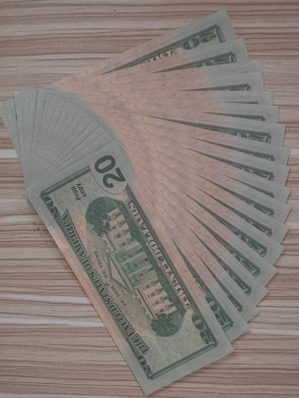 042 Popolari Puntelli Banconote 100 pezzi Un fascio di banconote da dollaro di simulazione, pistola a spruzzo, dollaro gioco di puntelli Banknotes Factory Vendite dirette