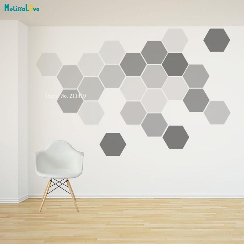 24 pcs removível parede de favo de mel decalque hexágono adesivos por pacote auto adesivo canvas arte adesivo geométrico design yt1538 201201