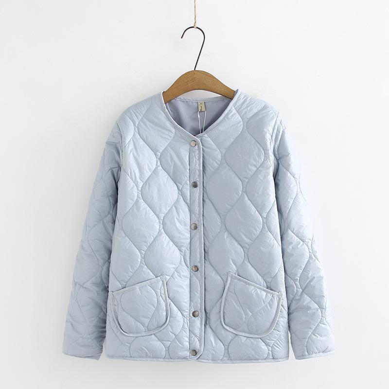 Зимняя одежда для женщин Плюс Размер однобортный Полный рукав Тонкий Короткие Parka куртка женщин Женская осенняя куртка 201007