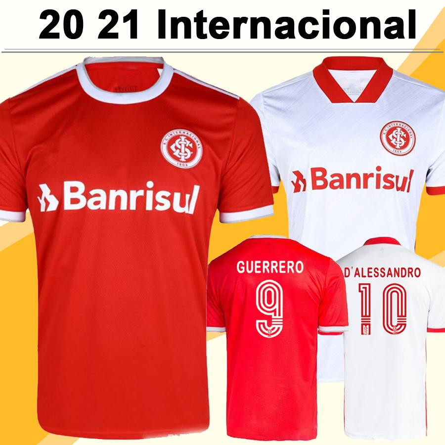 20 21 Internacional RS Mens Soccer Jerseys D' ALESSANDRO N. PATRICK GUERRERO Home Away Football Shirt Club UENDEL DOURADO Uniforms