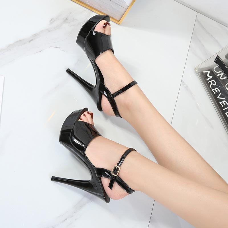 YEELOCA Femmes Escarpin Sandales Parti Stripper Sexy Pumps Chaussures Femme Gladiator Plate-forme Bonbons Couleur Sandales Taille 34-43