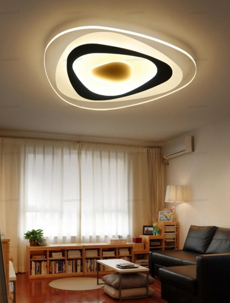 Ultrathin Triângulo luzes de teto lâmpadas para viver lustres quarto quarto de sala casa Dez LED lustre de teto