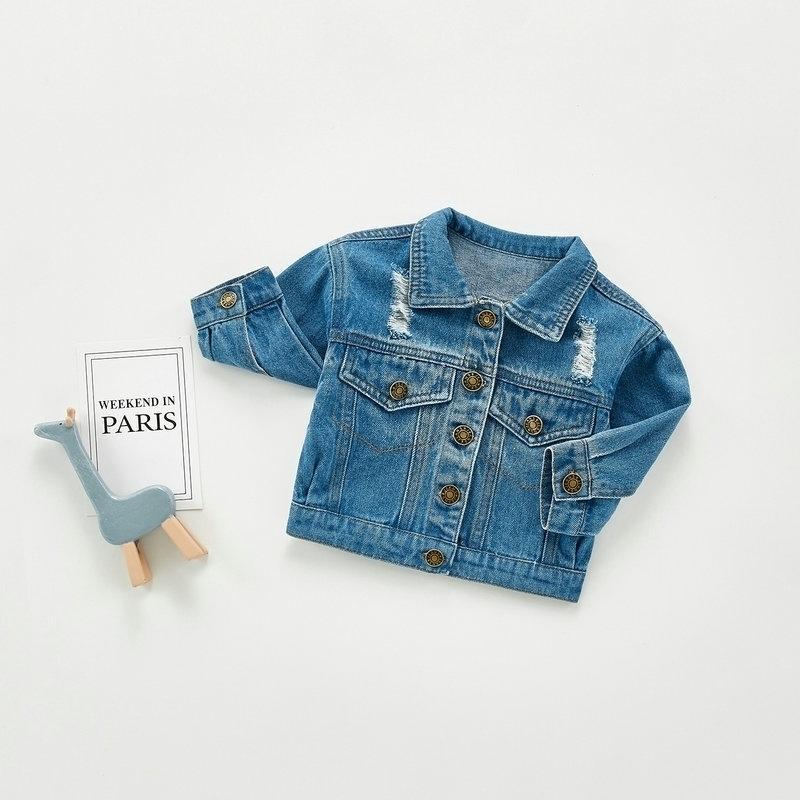 Coreano Baby Boy Denim Giacche a maniche lunghe Baby Boys Girls Vestiti Duck Jeans Cappotto per ragazze infantile Capispalla Bambini Bambini Outfit 201017