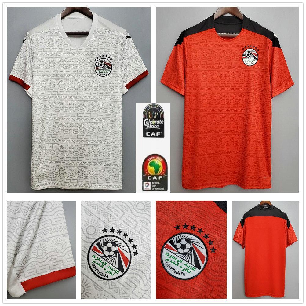 2020 2021 Egypt soccer jersey M. SALAH home red away white 20 21 KAHRABA A. HEGAZI RAMADAN M.ELNENY custom men footbal shirts uniforms