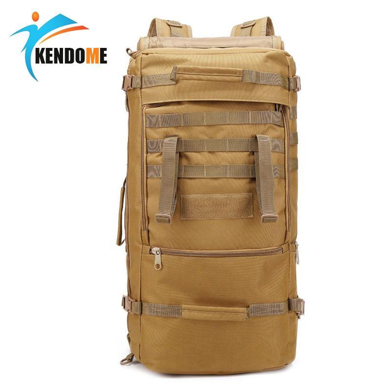 Sac tactique militaire d'extérieur 60L Chasse Camping Camping Ordinateur sac à dos Oxford Nylon Sac à dos militaire imperméable sac de sport Y200920