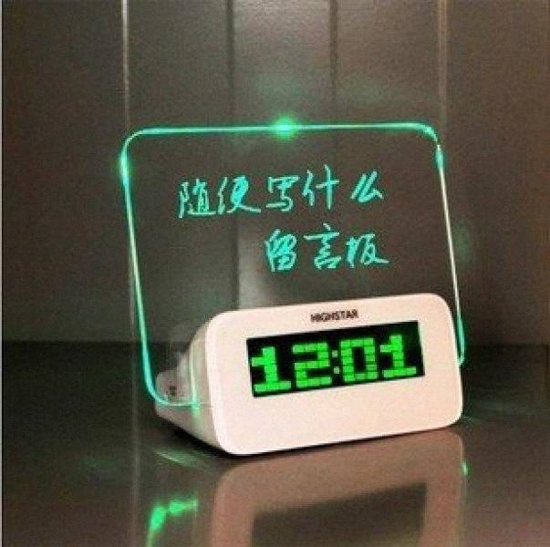 Gut wenn sie erreicht Time Alarm Ursprünglichkeit Elektronik Romantische Fluoreszenz Platte maek #
