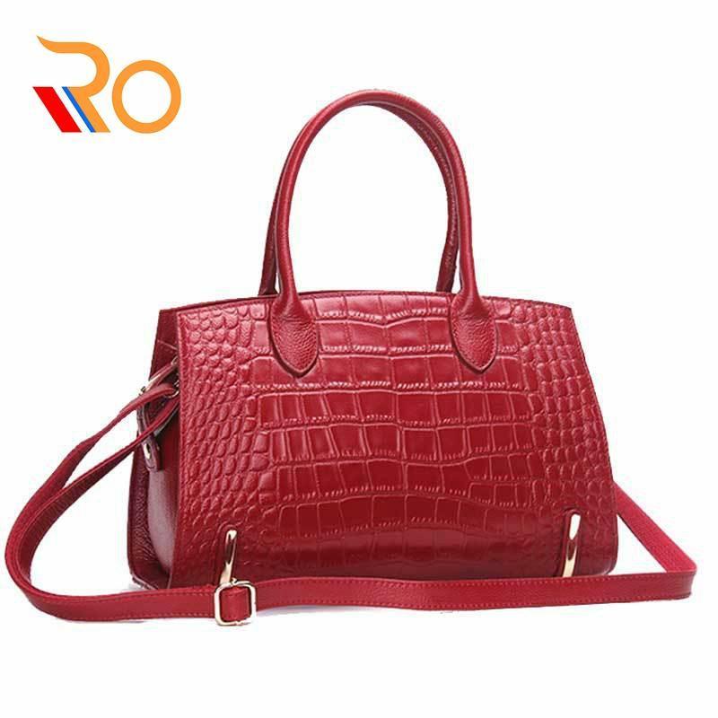 Tasche Weibliche Frauen echtes Leder-Beutel-Handtaschen Umhängetaschen für Frauen Schulter echtes Leder Bolsa Qualitäts Tote