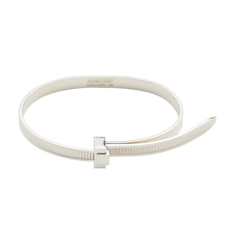 AMBUSH Hip Hop Simple Personality 925 silver Easy Pull Bracelet Bangle Adjustable Personal Gifts Punk Jewelry for Women Men
