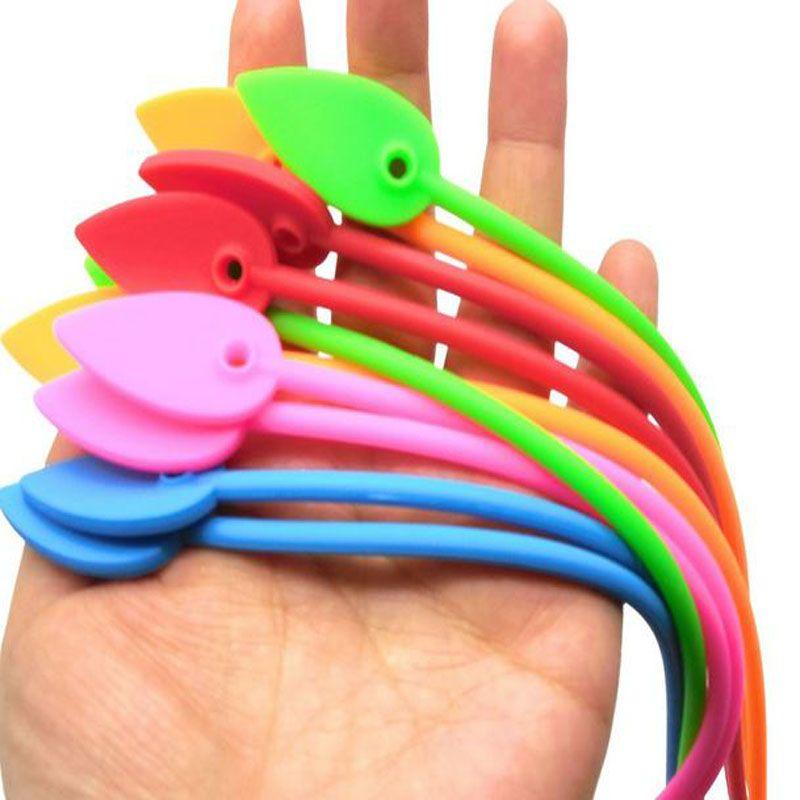 1000 pcs doméstico prático cor forma de folha de silicone cabo cabo laço de alimentos saco de alicate alicates de alta qualidade