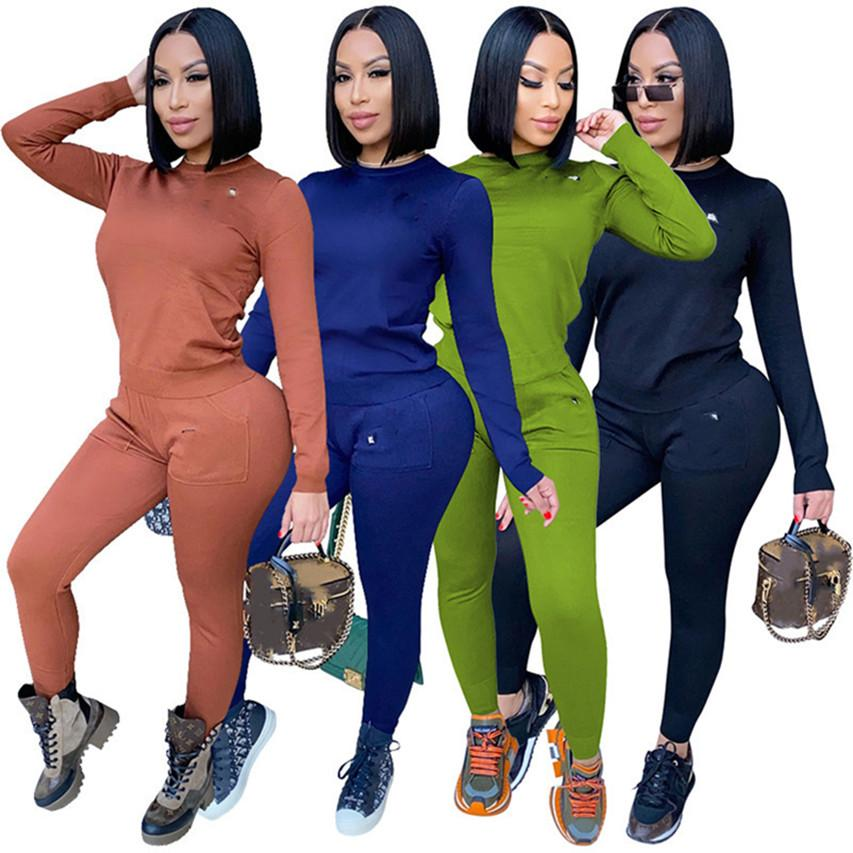 Women clothes two pieces outfits S-2xl printed hoodies leggings tracksuits tee tops pants fall Winter casual jogging suits sportswear 4368