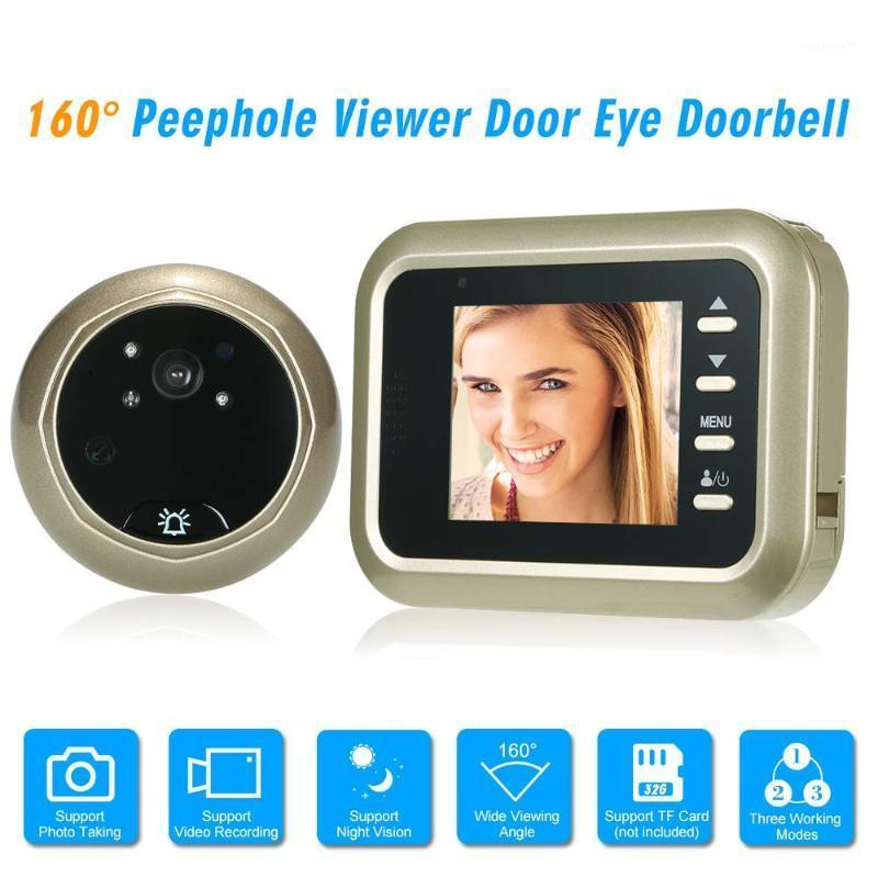 "Video-Door-Telefone 2.4 ""LCD-Digital-Peephol-Viewer 160 ° Türauge-Türklingel HD-IR-Kamera Nachtsicht Drei Arbeitsmodi optional PO TAKI"