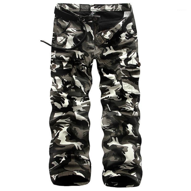 Hiver armée mode hommes pantalons hommes gros pantalons de camouflage pantalon de pantalon de la molleton chaleureuse cargaison hommes casual Baggy tactique1