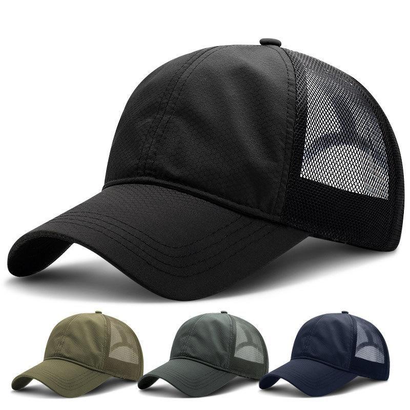 Nuevo sombrero de verano transpirable de secado rápido gorra de béisbol sol protector solar de la moda hombres al aire libre de la selva táctica sombreros casquillos de los deportes ocasionales