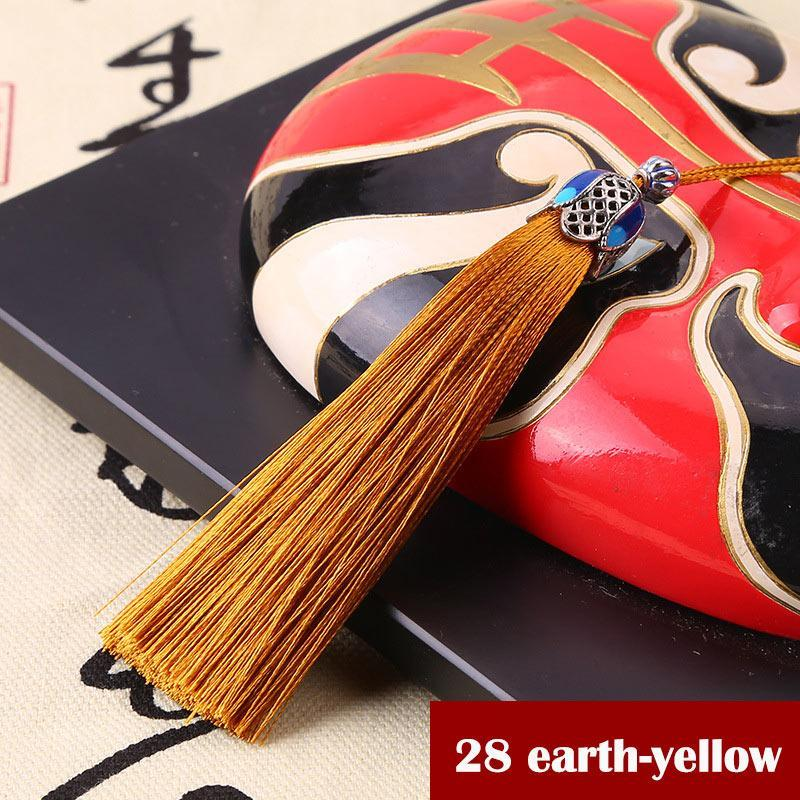 2 pcs seda borla borla templo coroa coroa guarnição vertical rugas pingente tassel pincel para cortinas jóias diy home decor h jllikf