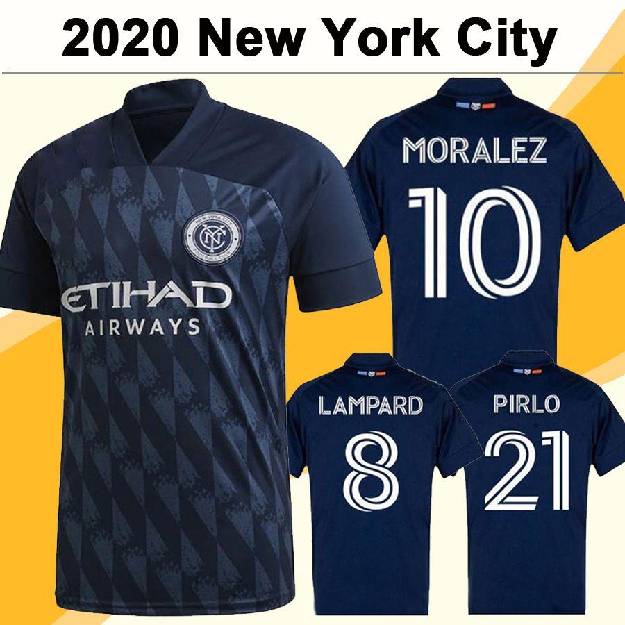 20 21 New York City Mens FC Soccer Jerseys New MORALEZ MITRITA MATARRITA Awau Blue Football Shirt HEBER CALLENS MEDINA Short Sleeve Uniforms