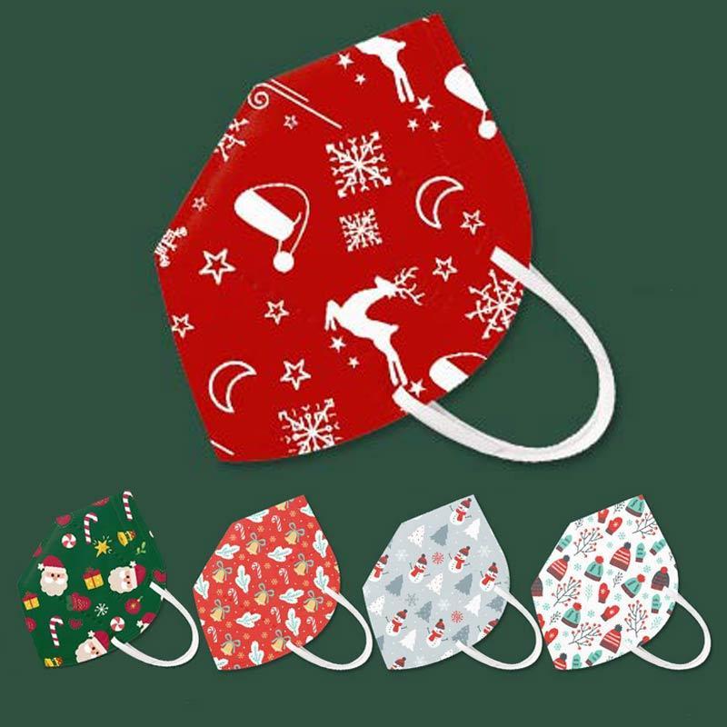 kn95 masque Joyeux Noël Père Noël bonhomme de neige desgner masque facial adulte KN95 protection anti-brouillard anti-poussière noire masque facial rouge