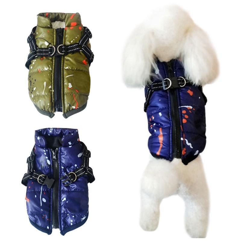 Animaux d'hiver imperméables Parcs pour chiens Vêtements pour chien chaud manteau de veste de Épaississement Gilet sans manches Habineige pour animaux Chihuahua chiot