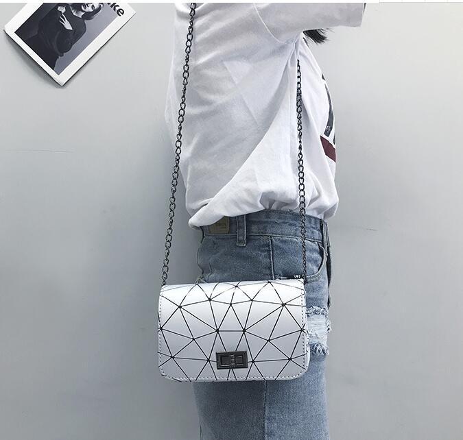 2021 Designer Shoulder Bag Pu Leather Fashion Chain Bag Cross Body Pure Color Female Women's Handbag Shoulder Bag