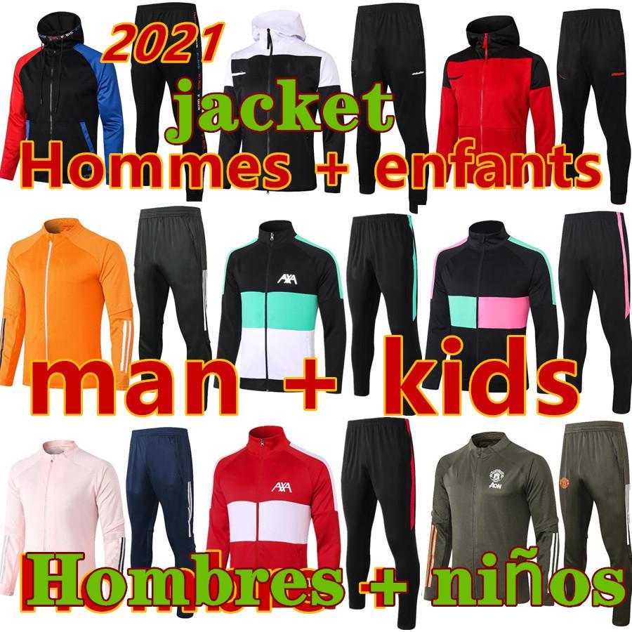 New Chandal Futbol Homens e Crianças Sobrevetimento Pé Futebol Jerseys 20 21 Futebol Tracksuit Football Jersey Treinamento Jogging Hoodie Jacket