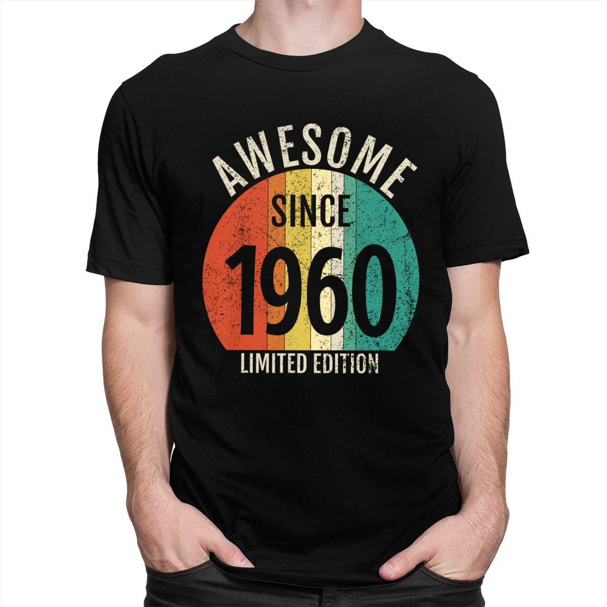 Sport Classic Awesome Since 1960 60 Jahre alt T-Shirt Kurzarm Cotton Tee Tops Freizeit 60. Geburtstags-Geschenk-Jahrestag T-Shirts