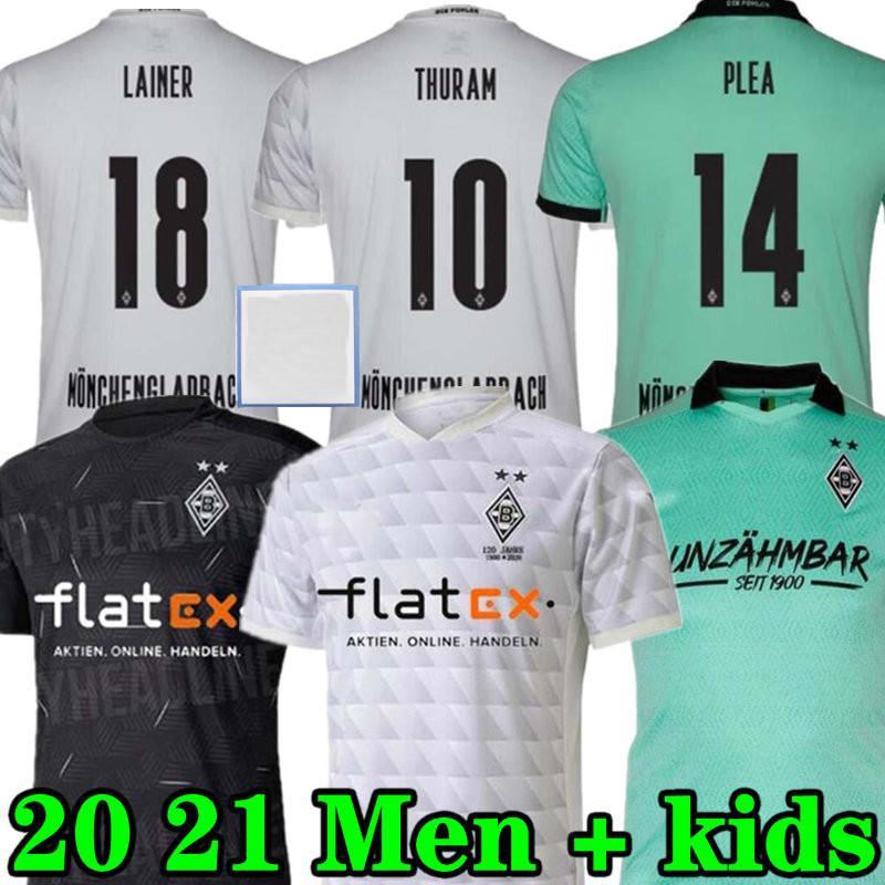 20 21 Mönchengladbach Fussball Jersey 120. Jubiläum Gladbach 2020 2021 Mönchengladbach Thuram Borussia Football Hemd Erwachsene Männer + Kids Kit