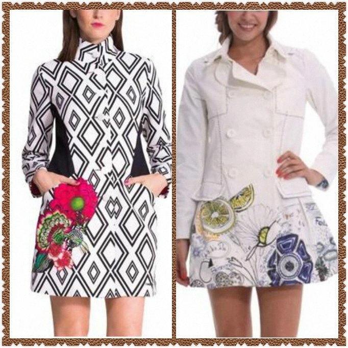 Spain women's print coat trench coat bh4C#