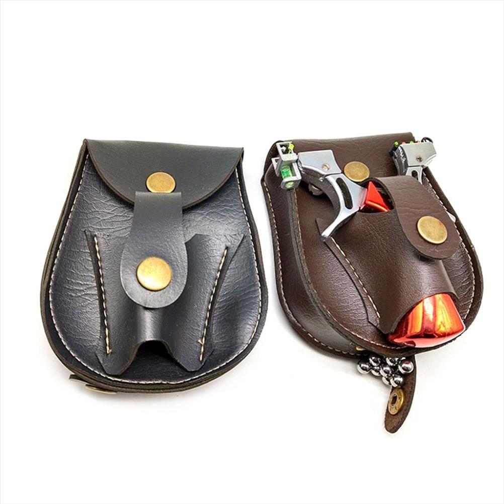 Handmade Leather 2 In 1 Hunting Slingshot Catapult Steel Balls Bearings Bag Pouch Case Holder Belt Pouch Bag Fanny Pack For Men