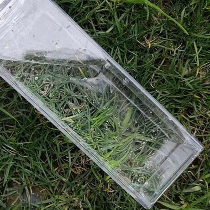 500ml transparente copo de água quadrado plástica frascos de caixa de leite de café bebida portátil estudante portátil canecas Personalidade 5 8JS F2