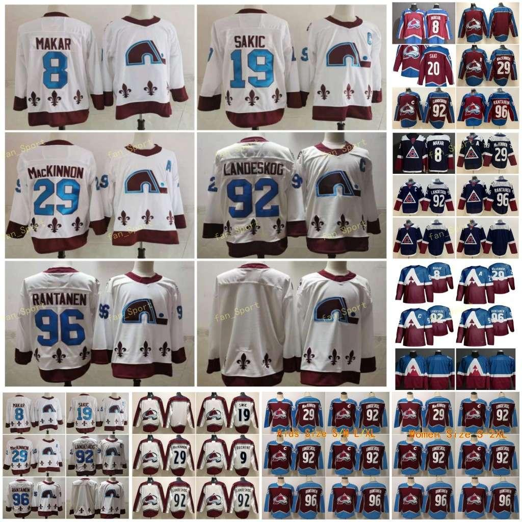 2021 리버스 레트로 콜로라도 Avalanche 20 Brandon Saad Hockey Jersey 8 Cale Makar 29 Nathan Mackinnon 96 Mikko Rantanen 92 Gabriel Landeskog