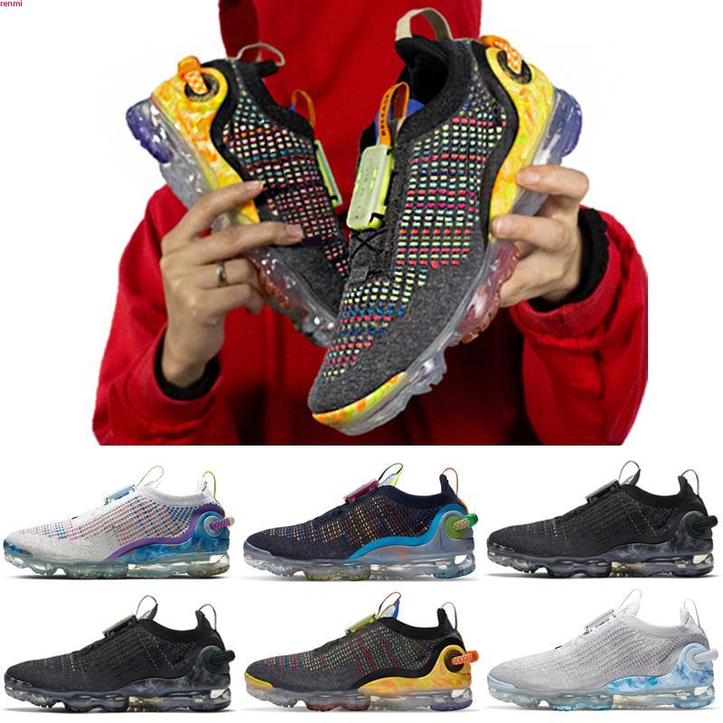 VaporMax 2020 FK zapatillas de deporte para hombre 2,0 mujeres de los hombres Cushionwhite calzado deportivo chaussures Zapatos de transpirable caliente 36-45