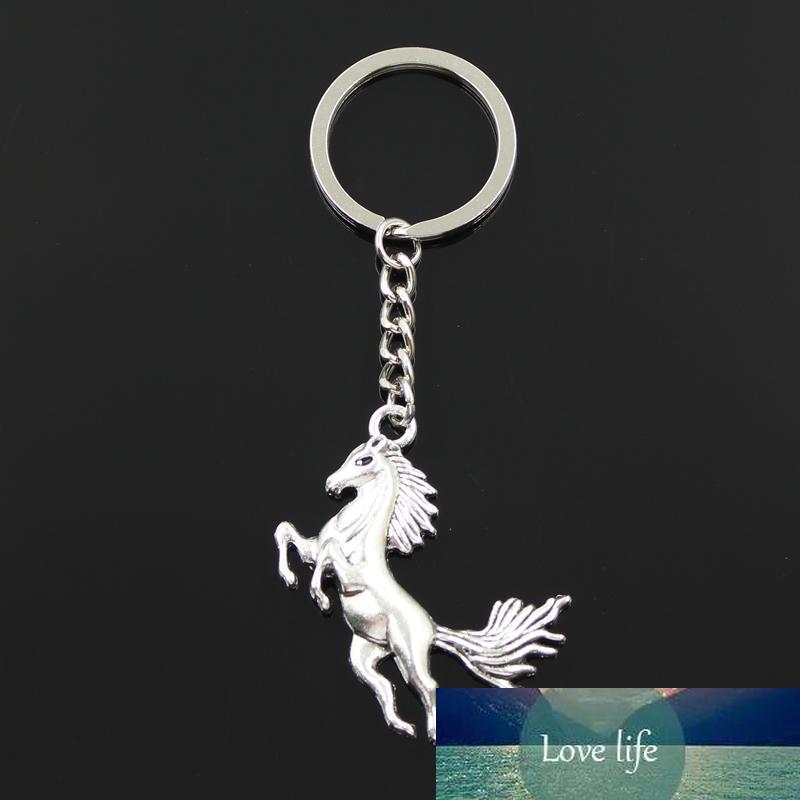 New Fashion Keychain 51x32mm Running Horse Pendants DIY Men Jewelry Car Key Chain Ring Holder Souvenir for Gift