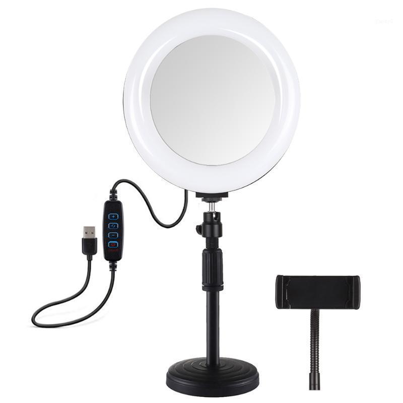 7,9 Zoll gekrümmter Oberflächenringlicht Dimmable USB-Ladung mit Telefonhalter Selfie Video Fill Light Set Ring1