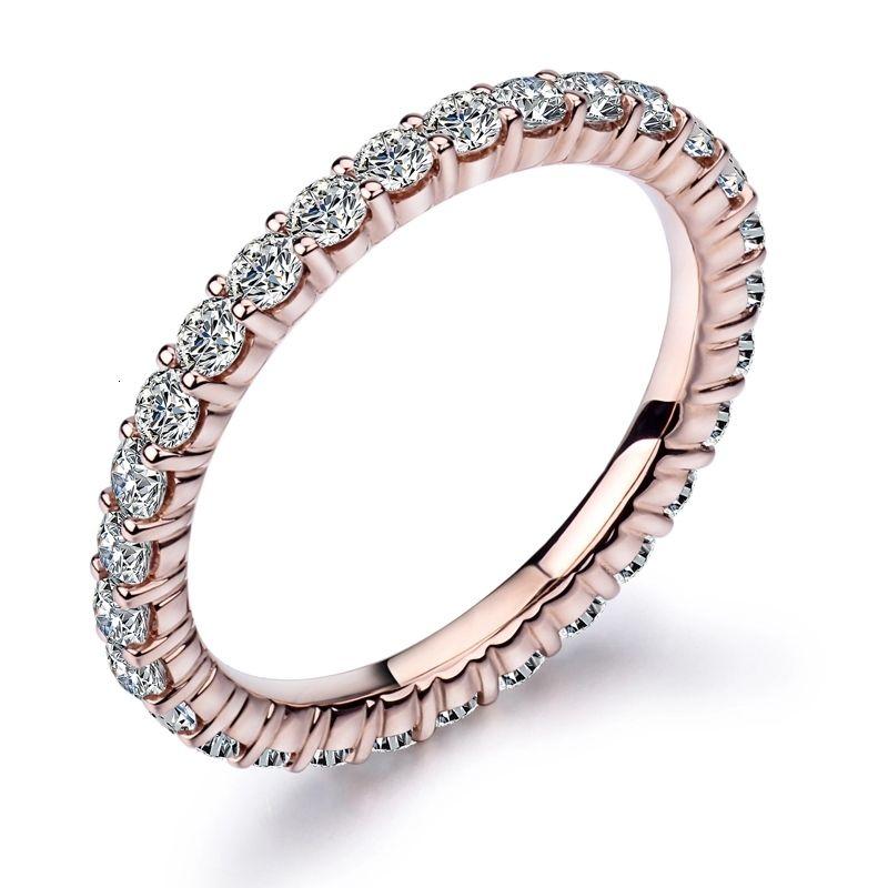 2021 Venta caliente Joyería Diamante Personalizar 18K Oro Sólido Moissanite Tennis Collar 6 pulgada 6 \