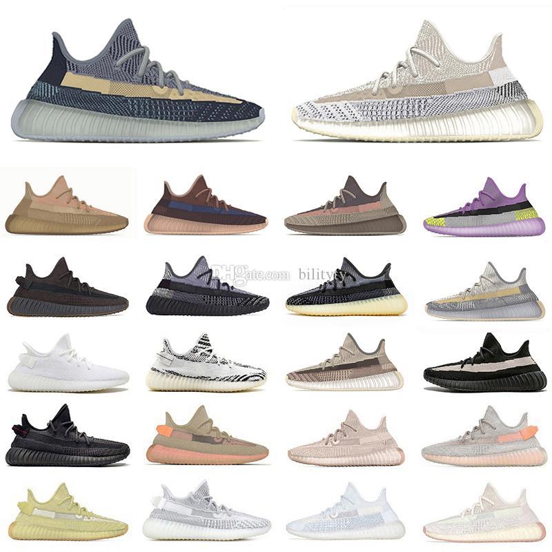 yeezy zyon 350 bred v2 asriel israfil kanye west mens sports sneakers 3m reflective cinder lino marsh desert sage earth oreo men women running shoes