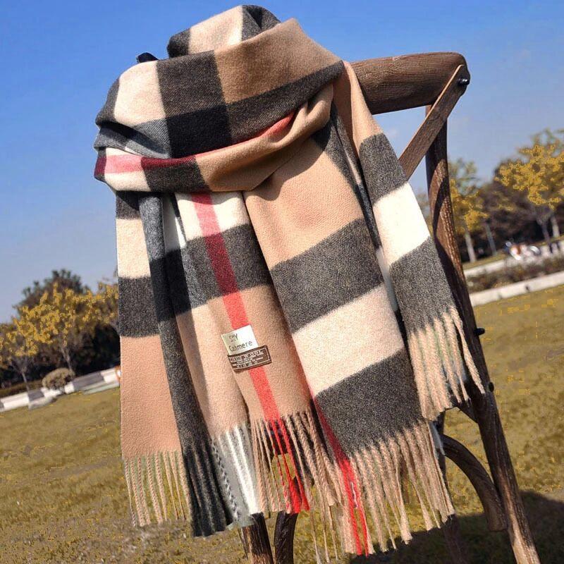 Большой размер 180 * 70 Высокое качество 2020 Осень / зима мода кашемировые шарфы, супер длинные шали мода женские мягкие шарфы