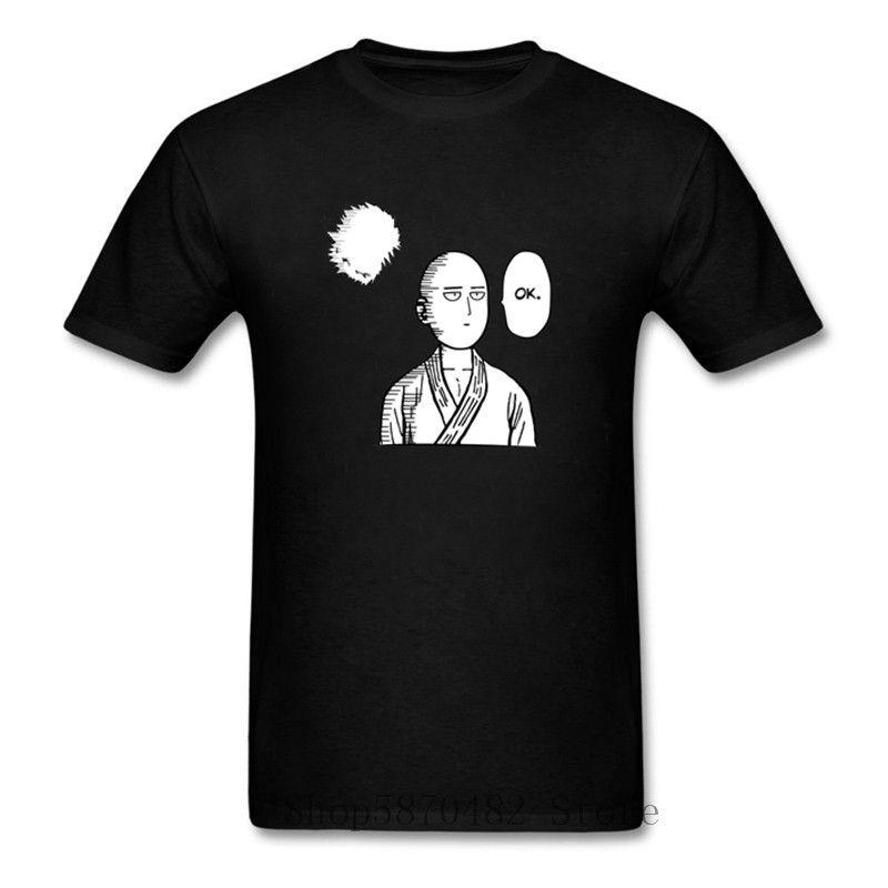 Bir yumruk adam saitama Tamam t gömlek tee anime gömlek karikatür t-shirt erkekler unisex moda tshirt gevşek boyut üst sezon 2 grafik tees x1214