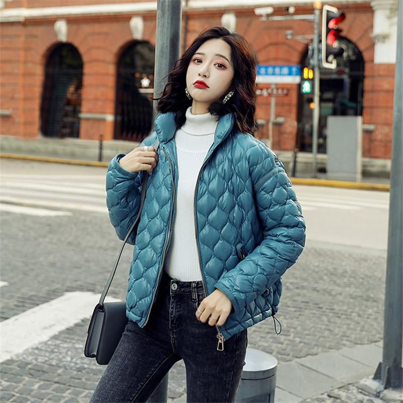 2019 зима вниз хлопковая куртка женщин женская теплая одежда высокая качественная куртка T200909