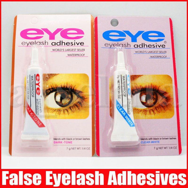 Nuovo cigli falsi colla adesiva sferza dell'occhio trucco colla trasparente bianco nero trucco waterproof Strumenti 7g