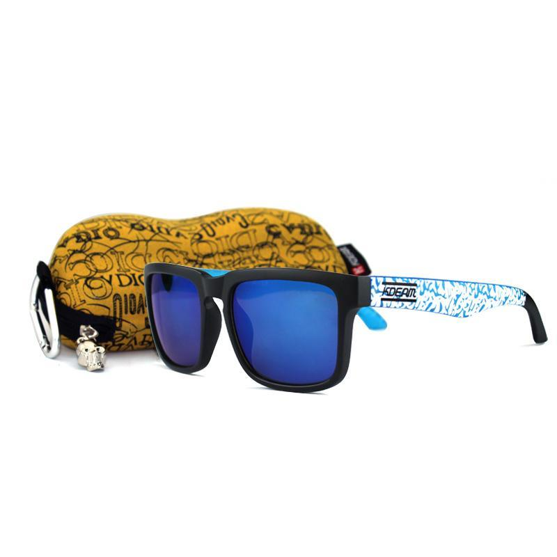 Gli uomini del progettista occhiali da sole polarizzati specchio Sport Marca Kdeam Uv400 Sunglass occhiali da sole d'Ce per tutti gli usi con la scatola yxlQgk CE2007