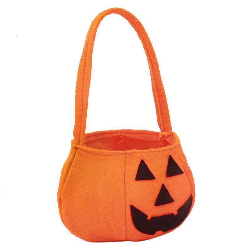 Tote Pail Halloween Дети тыква ткань конфеты реквизиты украшения праздничные партии поставляет подарочную сумку
