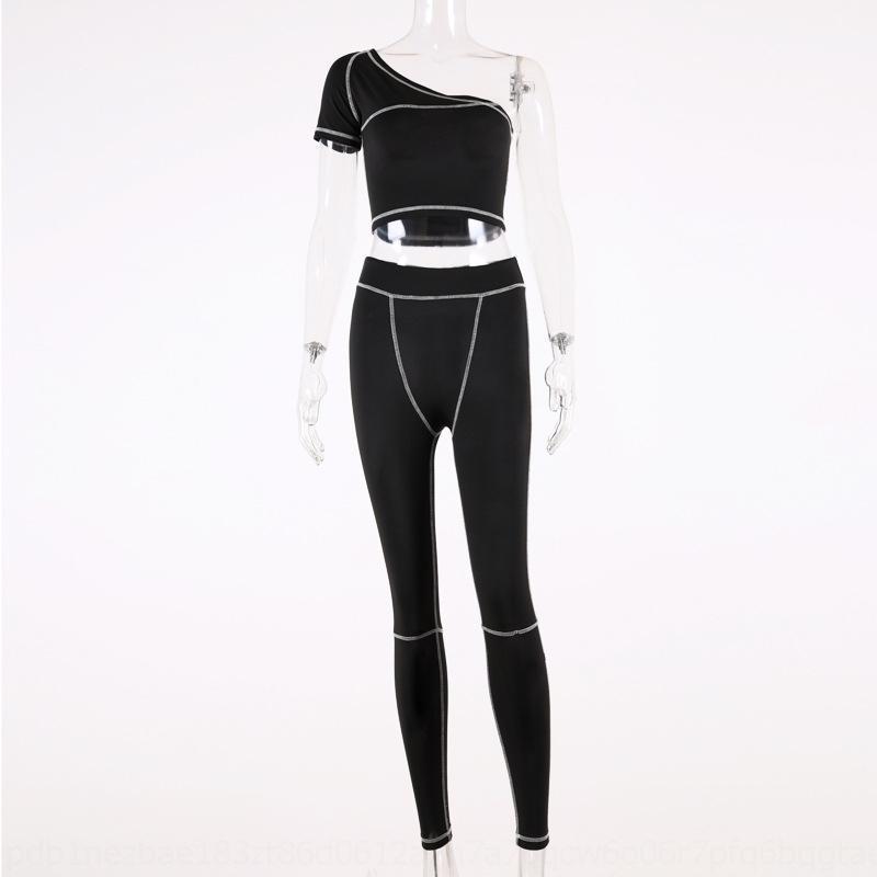 Lahk Womens Kıyafetler Kolsuz 2 Koşu Seti Eşofman Parçası Sportsuit Gömlek Tayt Kıyafetler Kazak Pantolon Spor Takım Elbise Sıcak Satış KLW456