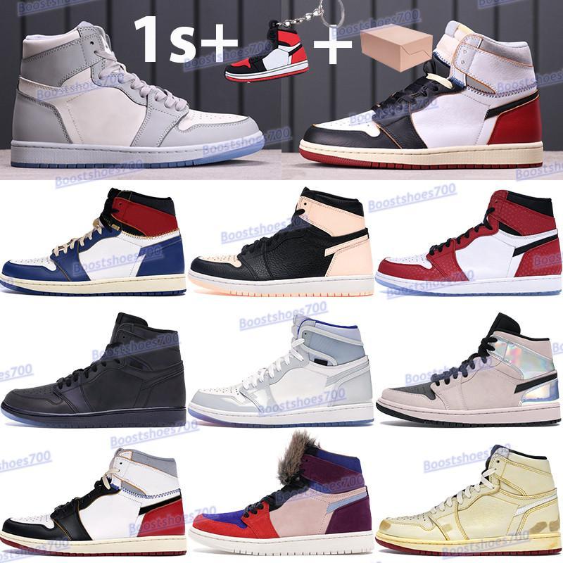 مع مربع 1 ثانية أحذية كرة السلة الذئب رمادي الشراع قرمزي تينت لوس أنجلوس الأزرق رياضة أحمر أسود أبيض ارتفاع الرجال النساء أحذية رياضية