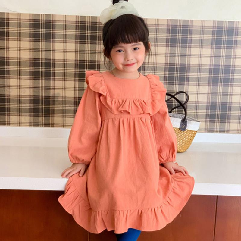 Nuevo 2020 primavera niños niños niña vestidos para chicas encaje burbuja manga princesa vestidos otoño niños vestido vestido de manga larga vestido W1227