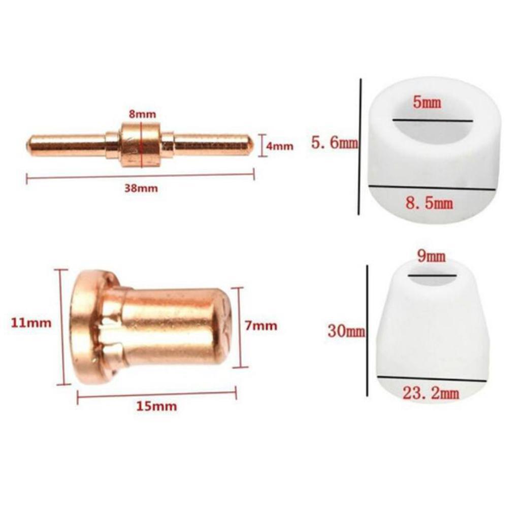 100pcs PT-31 LG40 Plasma Cutter Torch Tip Nozzles Consumables Kit, fit for CUT 50D 50 40 Plasma Cutting Machine